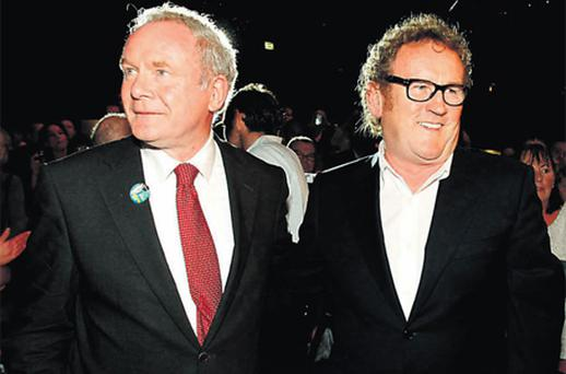 Martin McGuinness with Colm Meaney