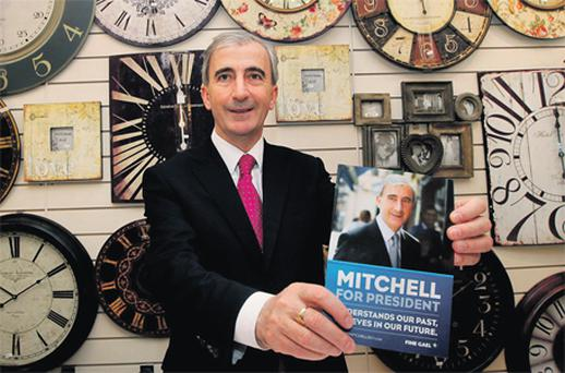 Gay Mitchell, pictured on the campaign trail in Dublin, has so far failed to capture the enthusiastic backing of Fine Gael voters