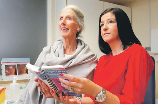 Mr Neligan's widow Pat with Lesley Osbourne. Photo: FRANK MCGRATH