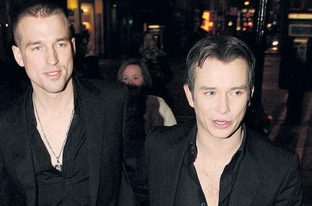 UNTIMELY: Stephen Gately (right) and Andrew Cowles