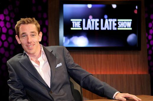 The Late Late Show Host Ryan Tubridy pictured on the set of the Late Late Show