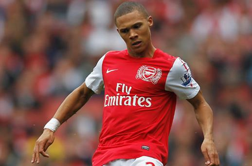 Kieran Gibbs of Arsenal in action against Sunderland on Sunday. Photo: Getty Images