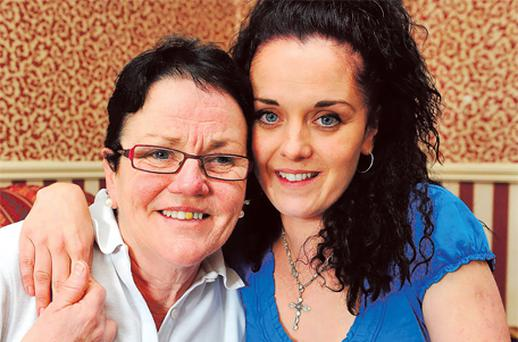 Lotto winner Lily Gallagher with her daughter Melissa