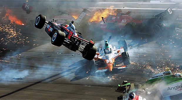 The deadly crash in Las Vegas in which Dan Wheldon lost his life