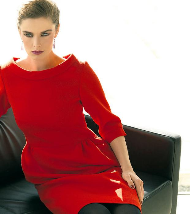 'Astrid' wool-crepe dress, €355, Heidi Higgins, Arnotts and Heidi Higgins Studio in Portlaoise. Photo: German Collins