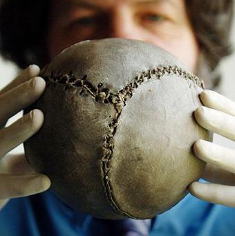 The world's oldest surviving football dates back to 1540