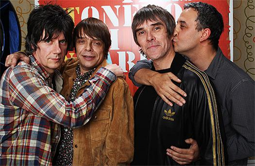 John Squire, Mani, Ian Brown and Reni announced today that The Stone Roses are to reform. Photo: Getty Images