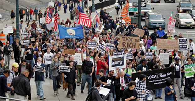 The Occupy Wall Street protest in New York. Photo: Getty Images