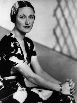 Wallis Simpson (nee Bessie Wallis Warfield) (1896 - 1986) a week before King Edward VIII abdicated. Getty Images