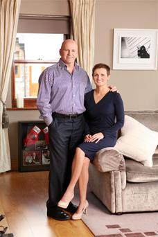 Presidential candidate Sean Gallagher is pictured at home in county Louth with his wife Trish. Photo: VIP Magazine