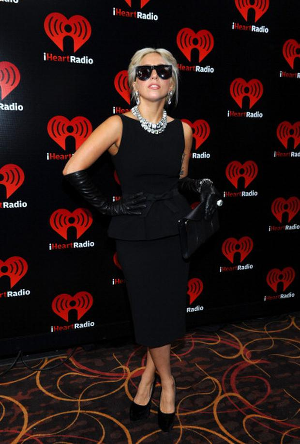 LAS VEGAS, NV - SEPTEMBER 24: Singer Lady Gaga poses backstage at the iHeartRadio Music Festival held at the MGM Grand Garden Arena on September 24, 2011 in Las Vegas, Nevada. (Photo by Michael Buckner/Getty Images for Clear Channel)
