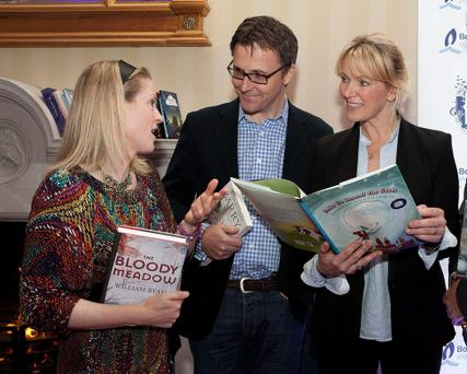 NO REPRO FEE 20/10/2011Bord Gis Energy Irish Book Awards 2011 Shortlist AnnouncementSarah Webb, William Ryan and Rachel Allen at the announcement of the 6th annual Bord Gis Energy Irish Book Awards 2011 shortlists at the RDS yesterday.Over 40 Irish authors gathered today (Thursday, October 20th 2011) to mark the announcement of the 6th annual Bord Gis Energy Irish Book Awards shortlists. The ÔBord Gis Energy Irish Book Awards 2011Õ shortlists feature Irish authors of international renown including Sebastian Barry, Neil Jordan, Derek Landy, Benjamin Black and Alan Glynn, whose previous novel was adapted to the acclaimed Hollywood movie ÔLimitlessÕ, alongside a host of newcomers including cystic fibrosis campaigner Orla Tinsley, comedian Des Bishop, radio presenter Joe Duffy, award-winning jockey Tony McCoy, scriptwriter/director John Butler and Irish rugby player Donncha OÕCallaghan.From today, the public are being asked to cast their vote on the best books of the last year via the Bord Gis Energy Irish Book Awards website www.irishbookawards.ie and every person who votes will be in with a chance of winning one of five Û100 National Book Token vouchers. Votes can be cast until midnight November 13st 2011.The Bord Gis Energy Irish Book Awards gala awards ceremony will take place in DublinÕs RDS on Thursday November 17th 2011. To view the full shortlists in the 11 categories in the Bord Gis Energy Irish Book Awards 2011, log onto www.irishbookawards.ie.-Ends-For media enquiries, please contact:Breda Brown / Joanne Leahy Unique MediaTel: (01) 522 5200 or (087) 1229776 (JL)Christine Heffernan Bord Gis EnergyÊÊÊÊÊÊÊÊÊÊÊÊÊÊÊÊÊÊÊÊÊÊÊÊÊÊÊÊÊÊÊÊÊÊÊÊÊÊÊÊÊ Tel: (01) 233 5029 / 087 050 5555For sponsorship enquiries, please contact:Alastair Giles, IBA Executive Directoragile marketingTel: (0044) 1225 865776 or (0044) 799 088 7271©Peter Houlihan/Patrick Bolger Photography