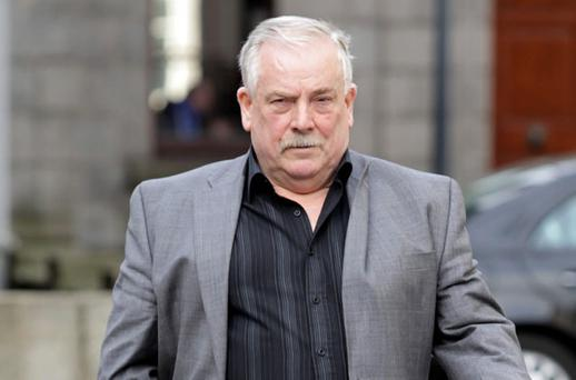 MR ANGRY: McFeely doesn't like being asked questions by the 'Sunday Independent' about the plight of Priory Hall residents