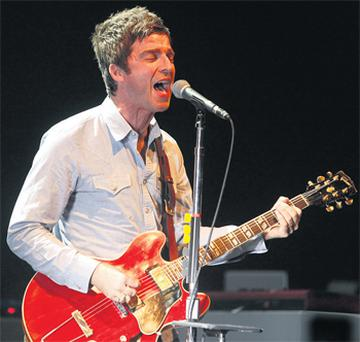 Noel Gallagher plays with his band at the Olympia Theatre last night