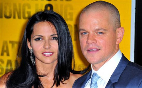 Matt Damon and wife wife Luciana Barroso