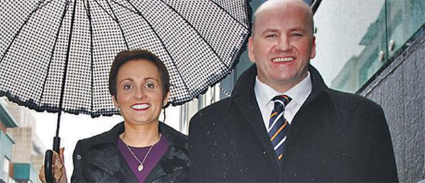 Presidential candidate Sean Gallagher and his wife Trish