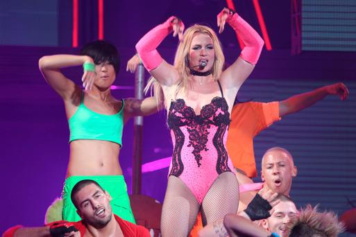 24/10/11 Britney Spears in concert at the O2, Dublin. Picture:Arthur Carron/Collins