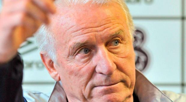 10 October 2011; Republic of Ireland manager Giovanni Trapattoni during a press conference ahead of their EURO 2012 Championship Qualifier against Armenia tomorrow, October 11th. Republic of Ireland Press Conference, Grand Hotel, Malahide, Dublin. Picture credit: David Maher / SPORTSFILE