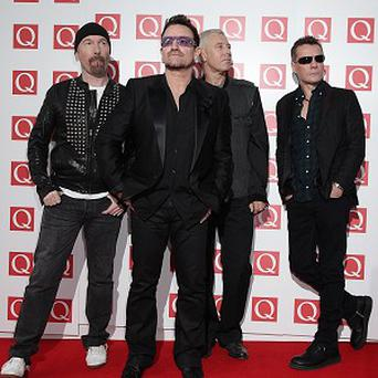 U2 were honoured at the ceremony in central London