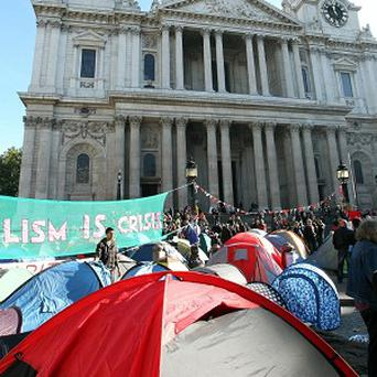 Protesters at St Paul's Cathedral are going home at night to work and look after their families