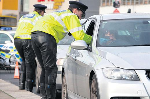 Gardai carrying out breath tests on Dublin's quays yesterday ahead of the change in drink-drive laws