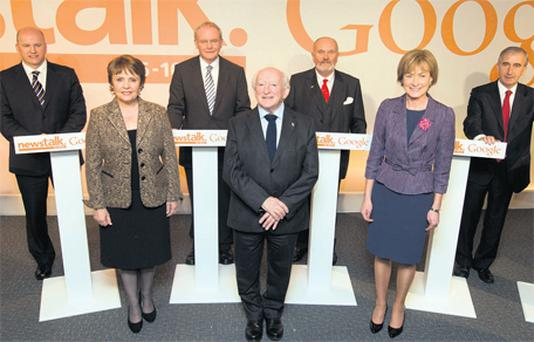 The seven presidential candidates are now on the home straight in the race for the Aras