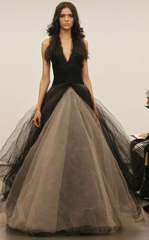 A wedding dress from Vera Wang's autumn 2012 collection