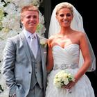 Brian Ormond and Pippa O'Connor pictured after their wedding Picture Colin Keegan, Collins, Dublin.