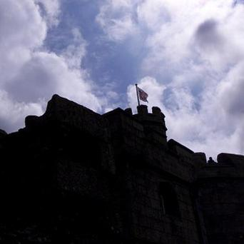 A playwright claims bosses at Pendennis Castle in Falmouth asked him to remove references to the Nazis from a story about the Second World War