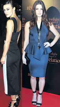 From left: Keira Knightley and Ashley Greene
