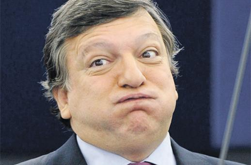 European Commission president Jose Manuel Barroso at a briefing yesterday after the European summit