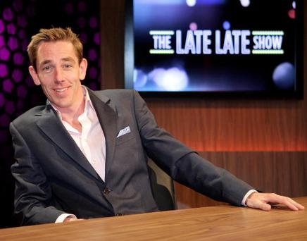 New Late Late Show Host Ryan Tubridy pictured on the set of the Late Late Show , yesterday.Pic Frank Mc Grath