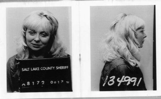 1979, Utah. Joyce McKinney's arrest picture from Salt Lake County Sheriff's office. Joyce was arrested 20 years ago for kidnapping and holding hostage Kirk Anderson.