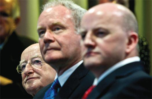 President-elect Michael D Higgins, Martin McGuinness and Sean Gallagher during the campaign