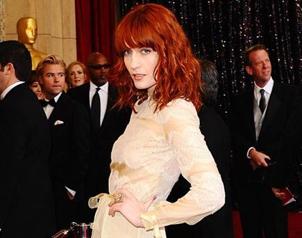Florence Welch arriving for the 83rd Academy Awards at the Kodak Theatre, Los Angeles. PRESS ASSOCIATION Photo. Picture date:Sunday February 27, 2011. Photo credit should read: Ian West/PA Wire