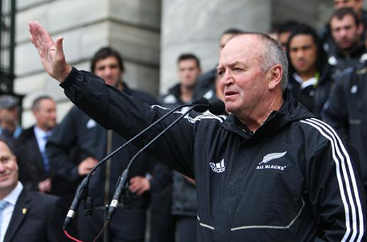 Graham Henry: stepping down as coach of the All Blacks. Photo: Getty Images