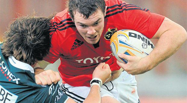 Back-row Peter O'Mahony was appointed Munster's youngest captain last month just as he was turning 22