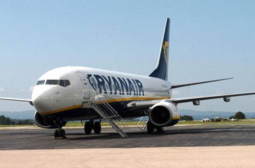 Ryanair lost 2.01pc to close at €3.42 after Societe Generale cut their recommendation on the stock to 'hold' from 'buy'. Photo: Getty Images