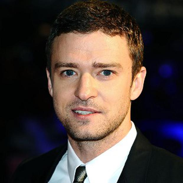 Justin Timberlake arrives at the premiere of new film In Time