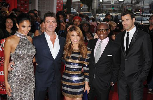 Nicole Scherzinger, Simon Cowell, Paula Abdul, Antonio 'L.A.' Reid and Steve Jones attend 'The X Factor' World Premiere Screening at ArcLight Cinemas in September. Photo: Getty Images