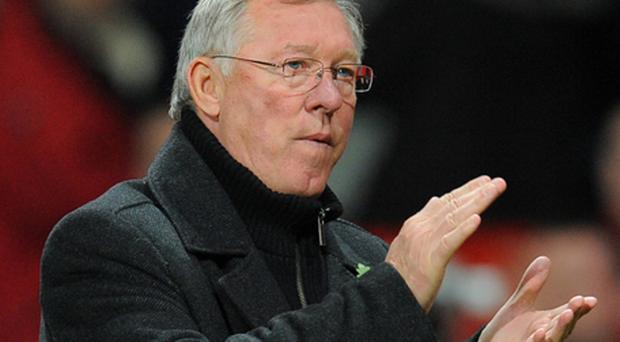 Sir Alex Ferguson: pleased with a third consecutive clean sheet for Manchester United. Photo: Getty Images