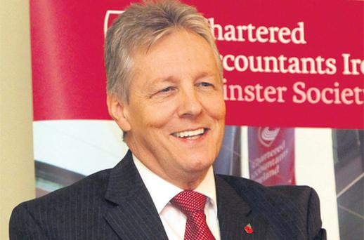Peter Robinson speaks to the Leinster Society of Chartered Accountants in Dublin yesterday