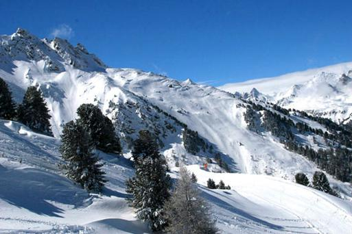 Ski slopes in the Maurienne Valley, France. PA