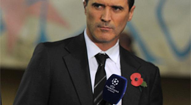 Roy Keane gives his views before the Champions League match between Villareal CF and Manchester City