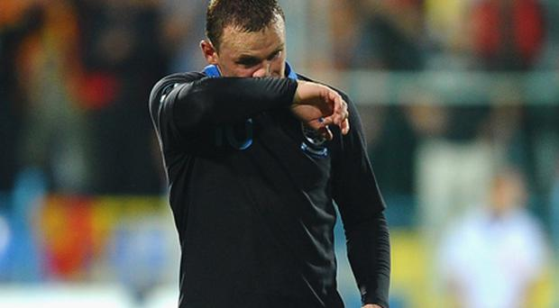Wayne Rooney accepts he has nobody but himself to blame for his sending off against Montenegro. Photo: Getty Images