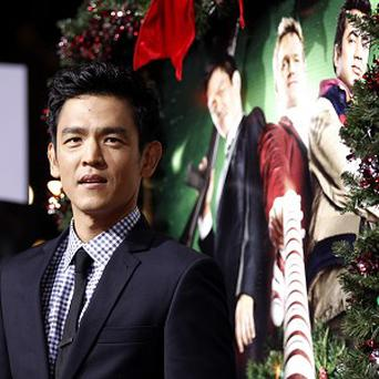 John Cho stepped out at the premiere of the latest Harold and Kumar movie in LA