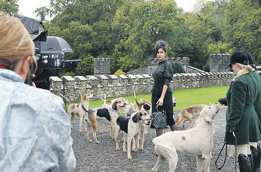 Film star Katrina Kaif during the fashion shoot at Slane Castle for the Indian edition of 'Harper's Bazaar'.