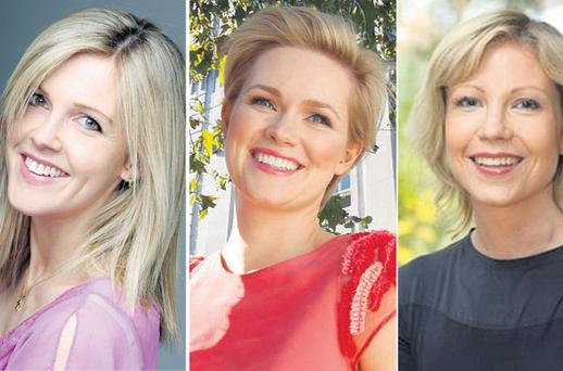 STORYTELLERS: Authors Sinead Moriarty, left, Cecelia Ahern and Emma Hannigan, above right, are among the many names on the shortlist for the Bord Gais Energy Irish Book Awards 2011. The public can vote for their favourite via the website