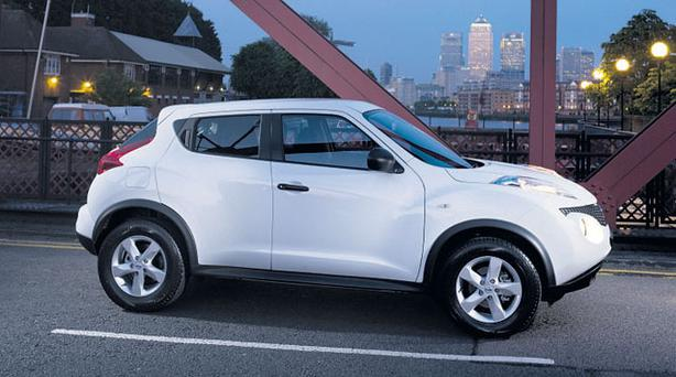 BOOST: The Nissan Juke, last year's Continental Irish Car of the Year, had 1,400 sales in 2011