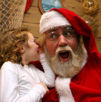 A man who plays Santa Claus in a Long Island store has been sacked because the county can no longer afford to pay him